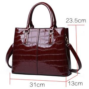 Image 2 - Fashion 3 Sets Women Handbags 2020 High Quality Patent Leather Women Luxury Brands Tote+Ladies Shoulder Messenger Bag+Clutch S