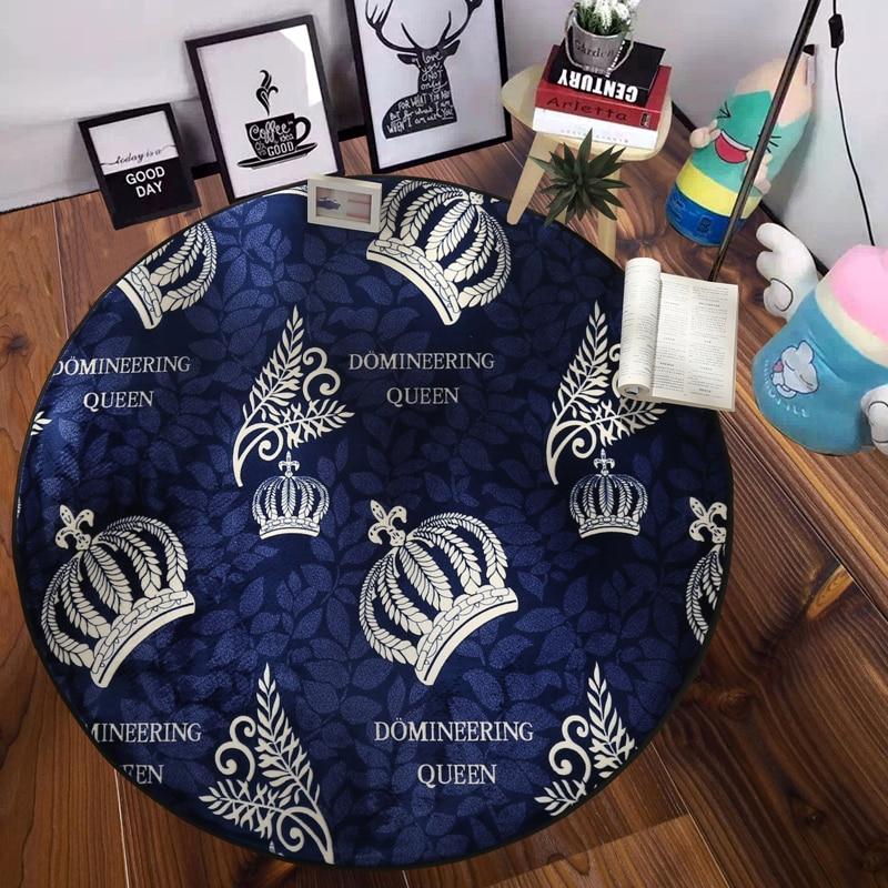 Jaune blanc couronne motif 1 pièces avec doigt moyen tapis paillasson aller tapis entrée intérieur antidérapant tapis salle de bain tapis doux