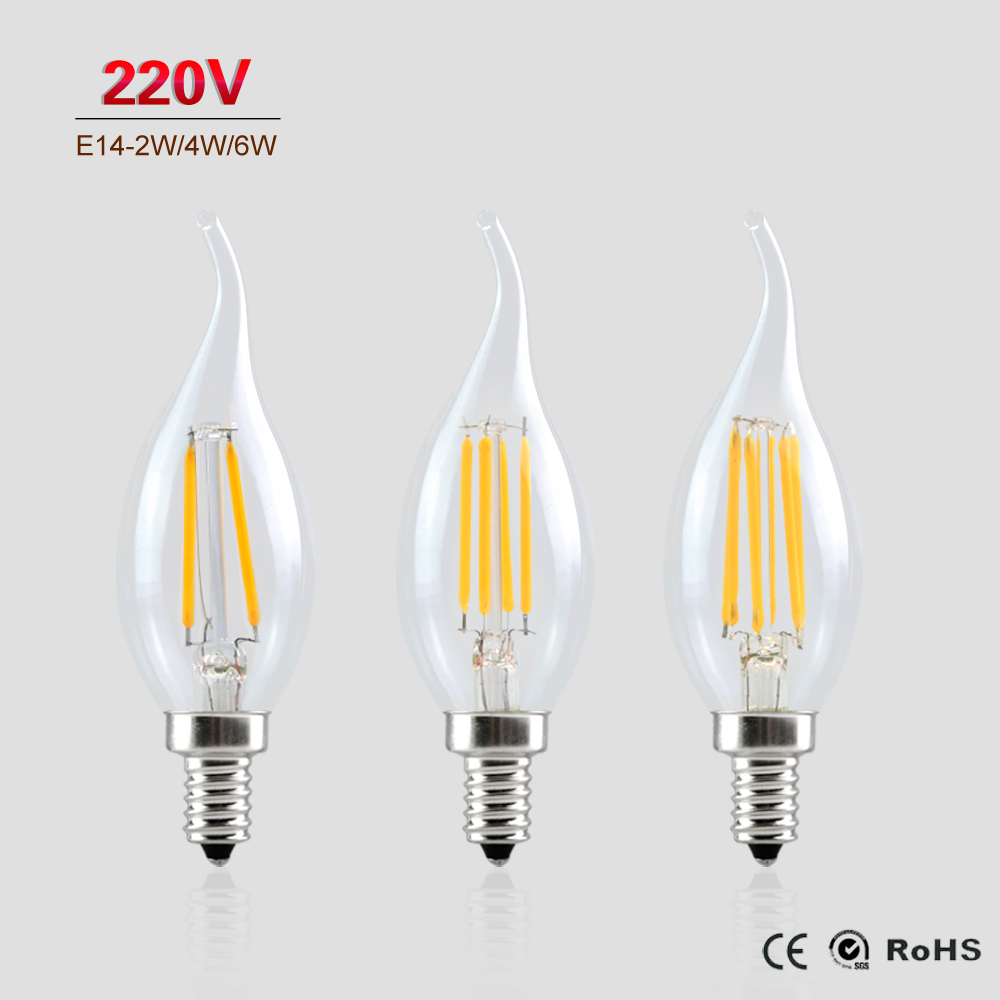 Crompton 40W SES Antique Decorative Candle Zig Zag Filament Bulb Lamp E14