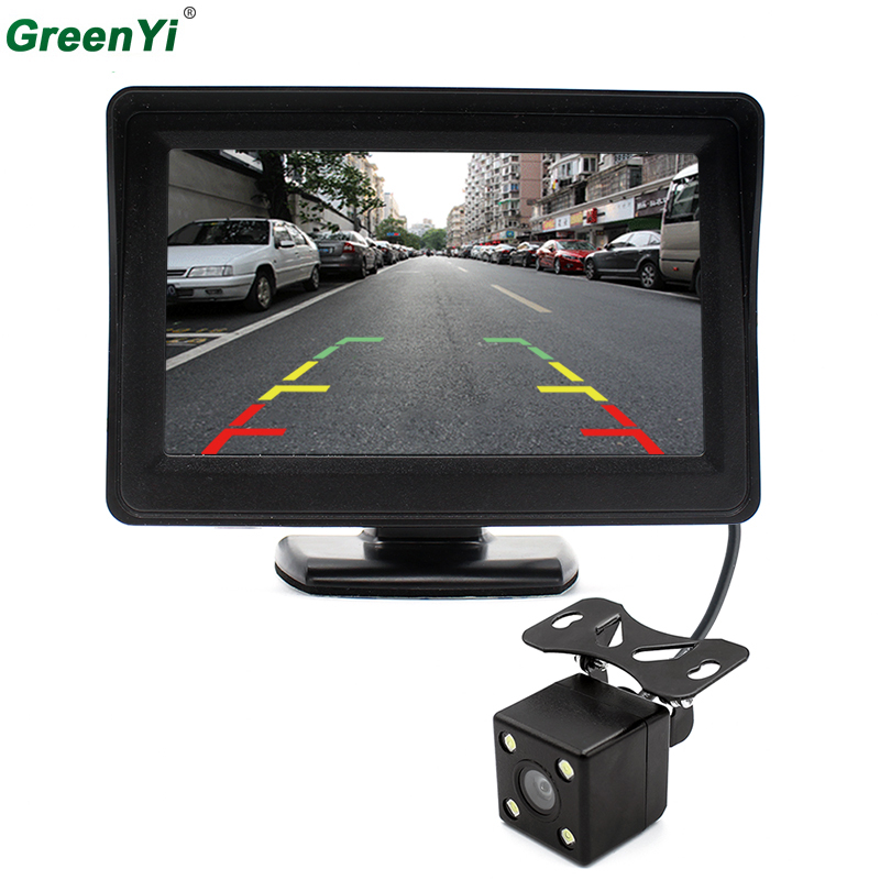 4.3 inch Car Rearview Mirror Monitor Rear View Camera CCD Video Auto Parking Assistance LED Night Vision Reversing Car-styling car hd video auto parking monitor led night vision reversing ccd car rear view camera with 4 3 inch car rearview mirror monitor