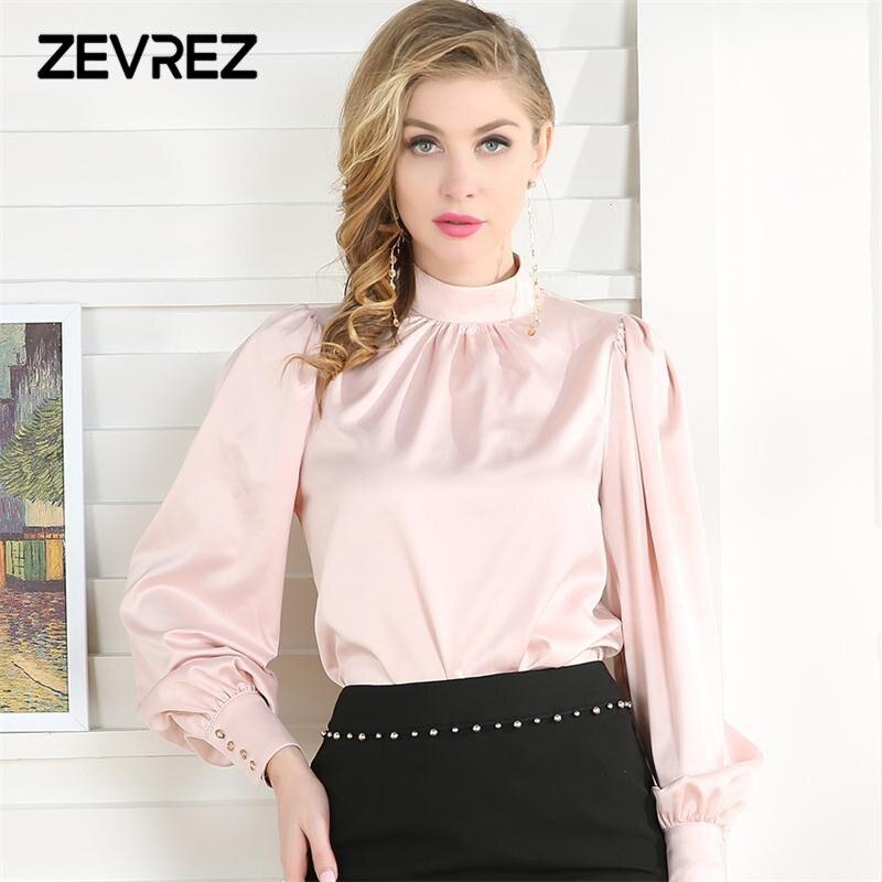 c576fea0337 Купить 2018 модная офисная женская блузка элегантная летняя с ...