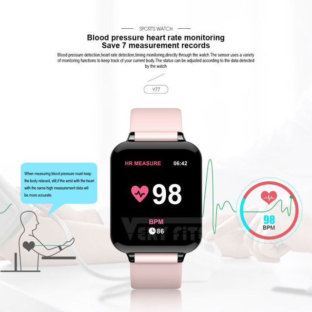 VERYFiTEK AW4 Smart Watch Blood Pressure Oxygen Fitness Bracelet Watch Heart Rate Monitor IP67 Men Women Sport Smartwatch B57 3