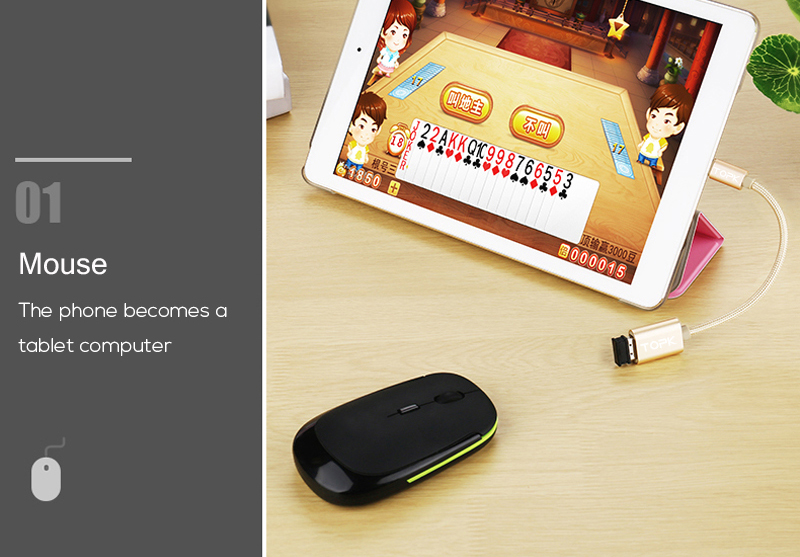 TOPK Micro USB 2.0 OTG Cable And USB OTG Adapter Or Converter Android Mobile Phones 5