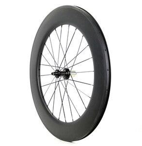 Image 5 - Ücretsiz kargo 700C 38/50/60/88mm derinlik yol karbon tekerlekler 25mm genişlik kattığı bisiklet tek arka tekerlekler UD mat finish