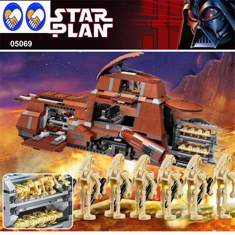 A Toy A Dream Star War The Federation Transportation Tank MTT 1338pcs Lepin 05069 Building Blocks Bricks Toys ompatible 7662 herbert george wells the war of the worlds