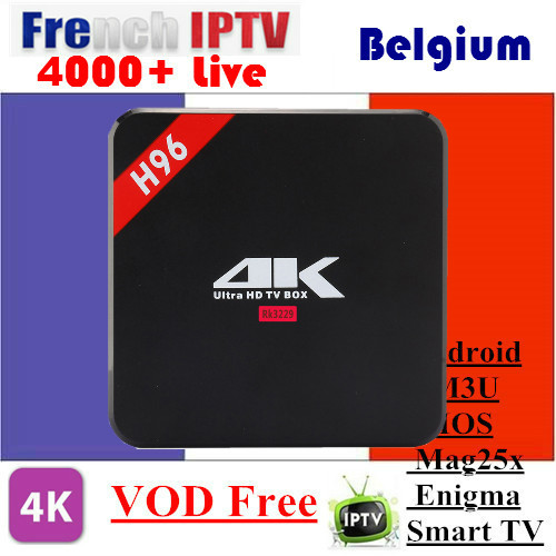 ESUNTV H96 RK3229 With 1 Year Europe IPTV Arabic Spain UK French Germany Italy Netherland Sweden