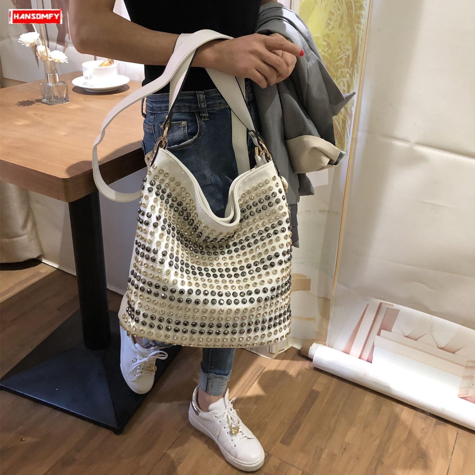 2019 new fashion diamond women handbag tide atmosphere large capacity shoulder Messenger bag female rhinestone ladies