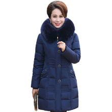 2016 Down Cotton Padded Parkas For Women's Winter Jacket Female Warm Outwear Long Plus Size  Wadded Jacket Hooded Thicken Coat
