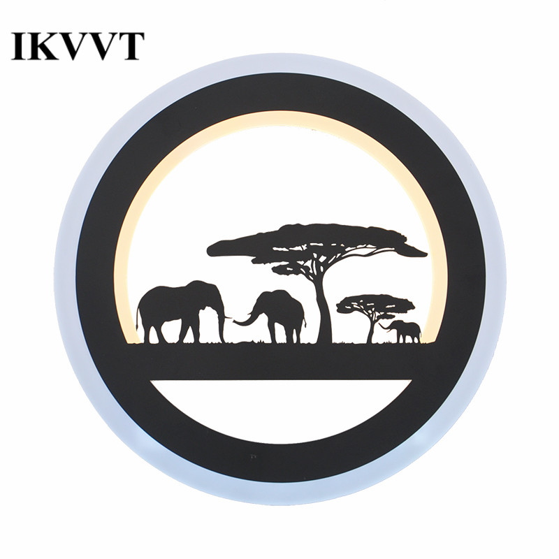 IKVVT Modern Simple Acrylice Wall Lights Round Black Iron Wall Lamp for Restaurant Bedroom Entrance Wall Lighting Fixture LEDIKVVT Modern Simple Acrylice Wall Lights Round Black Iron Wall Lamp for Restaurant Bedroom Entrance Wall Lighting Fixture LED