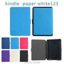 """La Manera delgada Cubierta Para Amazon Kindle Paperwhite 1/2/3 de Cuero Ereader caso $ number """"Para Kindle Paperwhite caja de la tableta Con la pluma y OTG"""