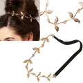 2017 Fashion Women headband Leaf Leaves Grecian Garland Head Hair Band Headband Gold Olive Branch 2 Leaf Hair Accessories