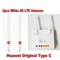 100 пар Huawei оригинальный 4 г LTE внешний 2x Телевизионные антенны для B593 B890 B880 B525 sma типа d-белый, доставка DHL