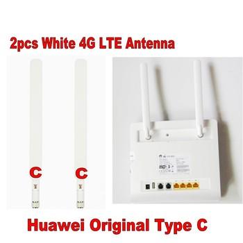 100pairs HUAWEI Original 4G LTE External 2x Antenna for B593 B890 B880 B525 SMA D-type white ,Dhl Delivery