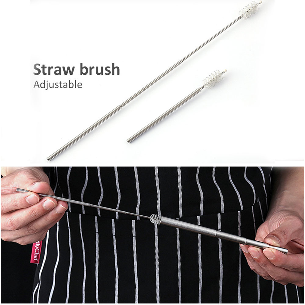Adjustable Collapsible Straw Portable Reusable Stainless Steel Straw Telescopic Drinking Straw