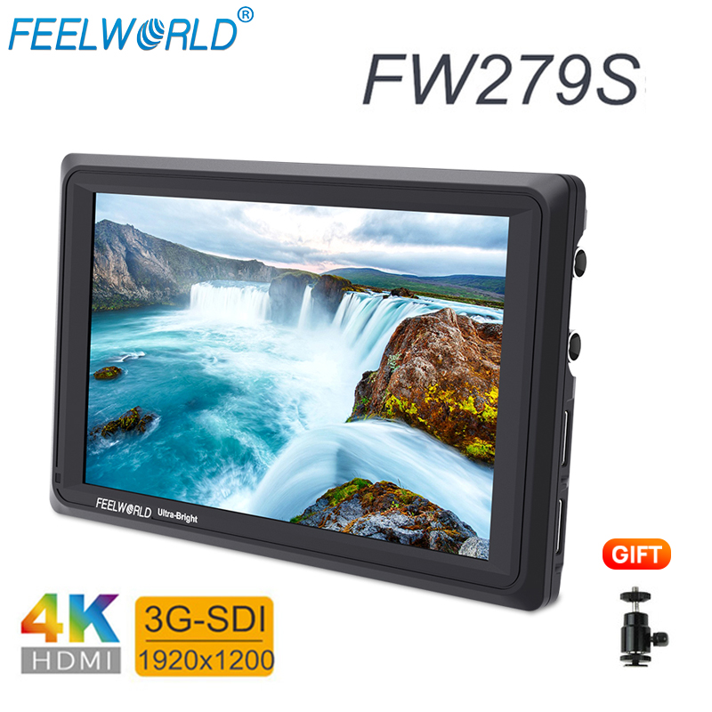4k Monitor Feelworld FW279S 7inch IPS 2200nits Brightness 4K HDMI Monitor 1920X1200 Display for Sony a7 Nikon DSLR Cameras bmpcc4k Monitor Feelworld FW279S 7inch IPS 2200nits Brightness 4K HDMI Monitor 1920X1200 Display for Sony a7 Nikon DSLR Cameras bmpcc