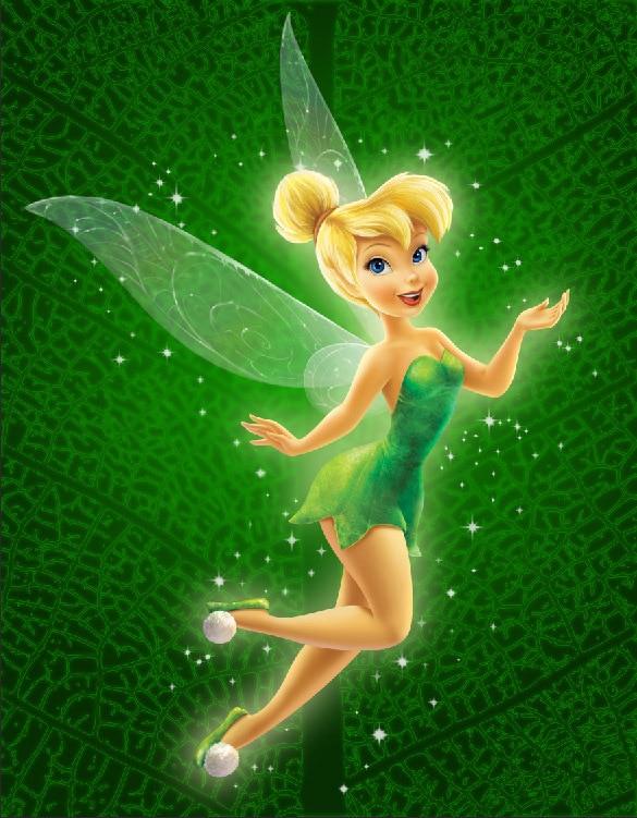 8x8ft green pattern flying miss tinker bell fairies girls for Immagini di trilli