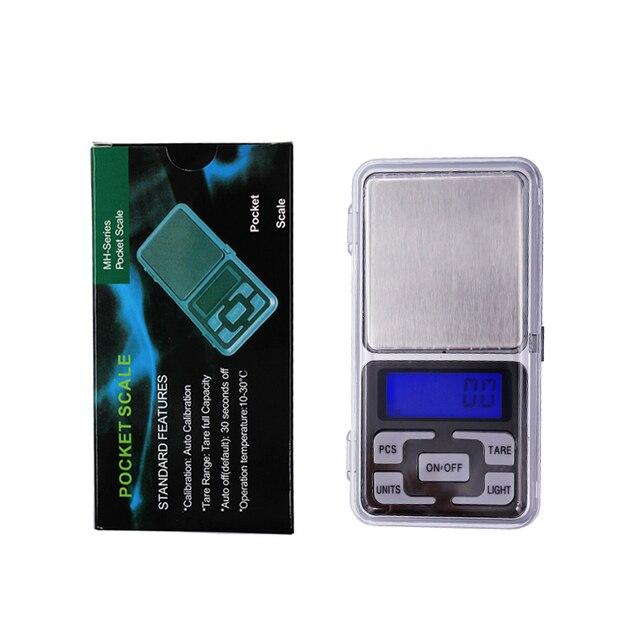 Przez DHL/Fedex 50 sztuk/partia 1000g x 0.1g Mini 1 kg elektroniczny 5 klawiszy kieszonkowy skala LCD wyświetlacz cyfrowy biżuteria waga waga 30% off