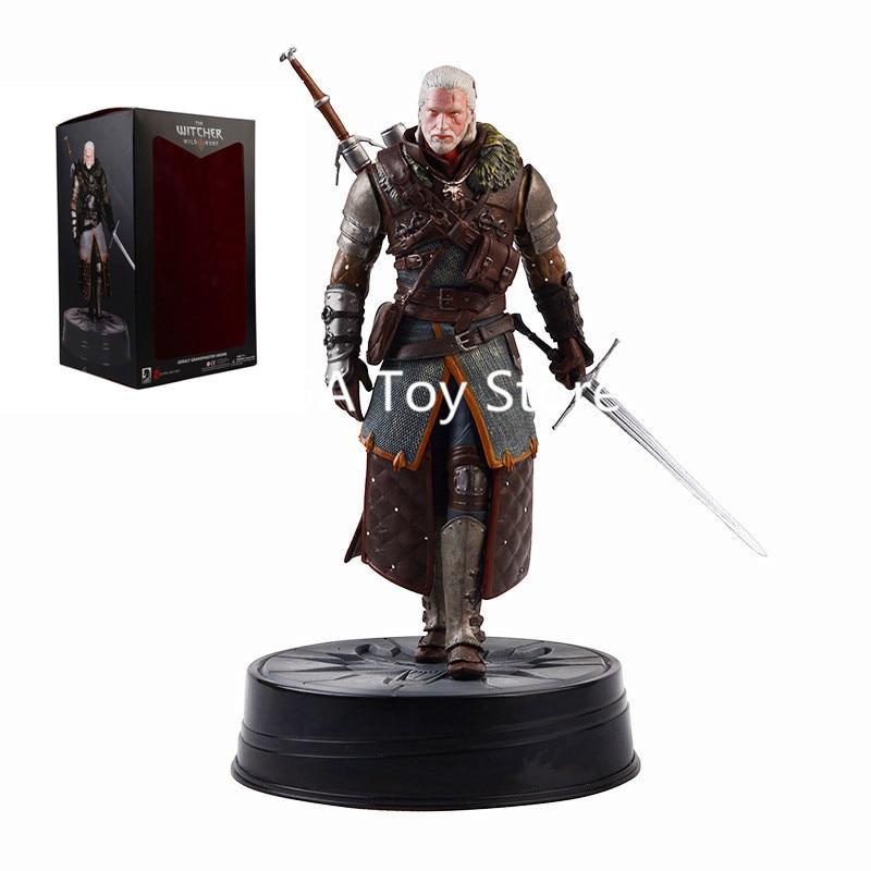 The Witcher 3 figurine Dark Horse Deluxe Geralt figurine the witcher 3 figurine en PVC à collectionner modèle jouets 24 CM