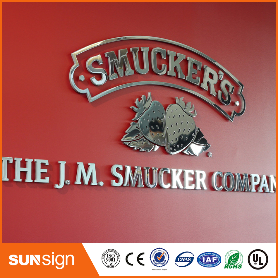 New Polish Stainless Steel Letter Sign Metal 3D Letter Sign