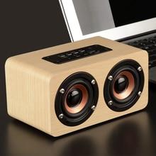 Wooden Wireless Bluetooth Speaker Portable HiFi Shock Bass Altavoz TF caixa de som Soundbar for iPhone Sumsung Xiaomi leegoal portable hifi wireless bluetooth speaker wooden bass altavoz tf fm radio caixa de som soundbar with mic for phone pc