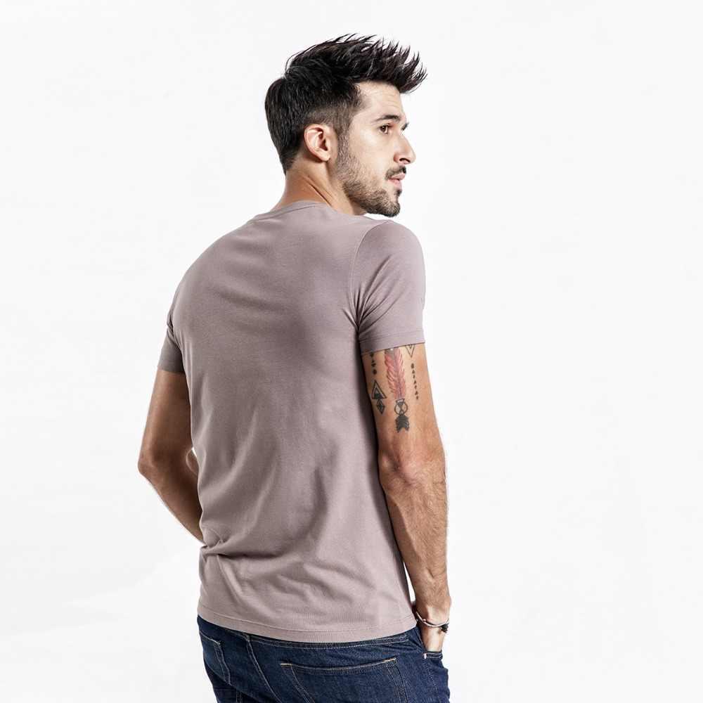 SIMWOOD 2019 verano nuevo sólido t camisa de los hombres flacos o-cuello de algodón Slim Fit Camiseta Hombre transpirable alta calidad camisetas 190115