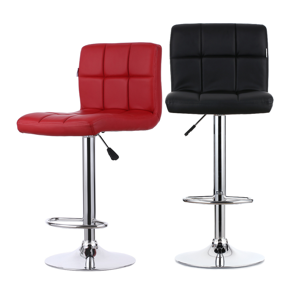 IKayaa FR Stock 2PCS/Set PU Leather Swivel Bar Stools Chairs Height  Adjustable Heavy Duty Counter Pub Chair Barstools In Bar Chairs From  Furniture On ...