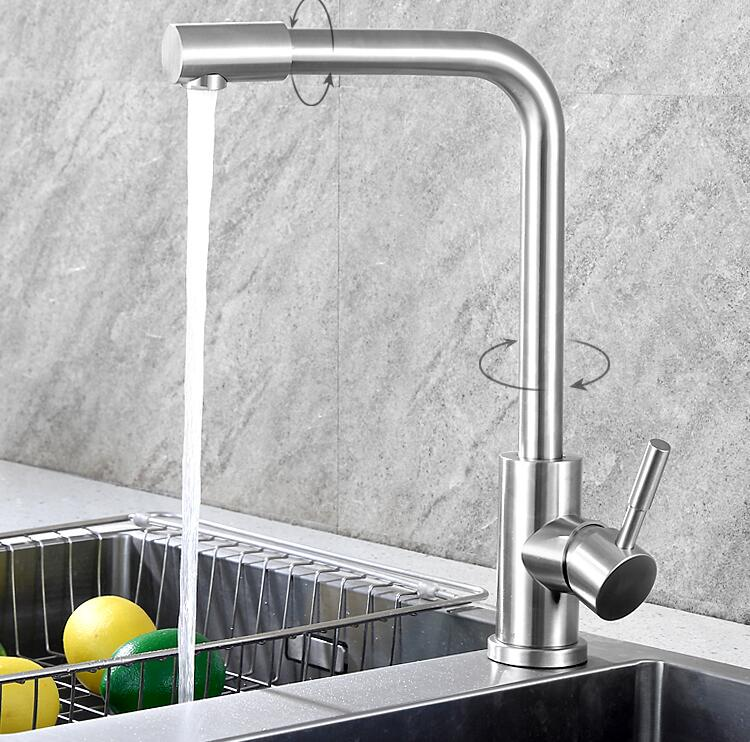 Fashion German technology high quality brass chrome single lever hot and cold pull out sink faucet kitchen tap new arrival top high quality chrome brass single lever single cold kitchen sink faucet direct drinking tap