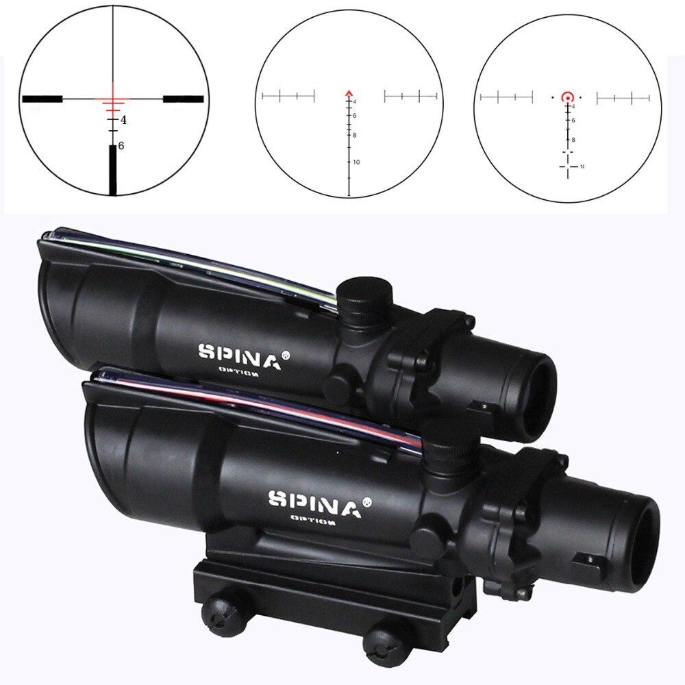 5x35 Riflescope Dual Illuminated Red or Green Fiber Optics Scope 4x32 upgrade with 3 model Reticles
