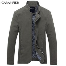 CARANFIER Men Casual Jacket High Quality Cotton Coat For Outerwear Thin Slim Fit Fashion Motorcycle Male Jacket Plus Size M-5XL