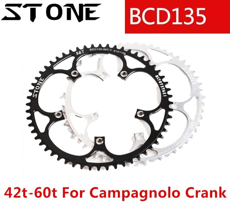 Pierre 135 BCD plateau rond pour Campagnolo manivelle vélo étroit large 42/44/46/48 T/52/54/56 T/58/60 T route vtt vélo chaîne roue
