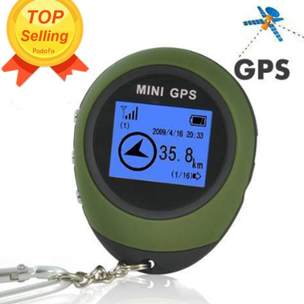 Podofo 2019 Mini GPS Tracker Dispositivo de Rastreamento de Viagem Protable Keychain Locator Pathfinding Handheld Chaveiro Desporto Ao Ar Livre