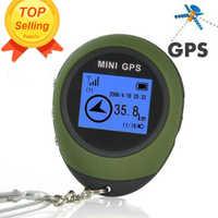 Podofo 2019 Mini GPS Tracker Tracking Device Travel Protable Keychain Locator Pathfinding Outdoor Sport Handheld Keychain