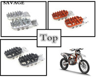 Motorcycle Front Foot Pegs Rests Pedals Adjustable Scaling For KTM EXC EXC F XC SX SX F 50 125 250 350 450 525 530 660 950 990