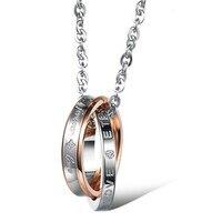 Couple Necklace Set Retro Design FOREVER LOVE 4