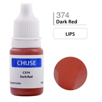 CHUSE Permanent Makeup Ink Corrector Tattoo Ink Set Microblading Pigment For Professional Maquiagem Definitiva10ML Dark Red