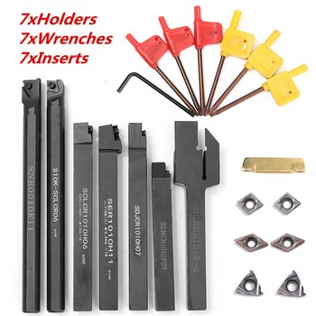 21PCS/SET DCMT CCMT Carbide Insert  10mm Boring Bar Tool Holder  Wrench For Lathe Turning Tool