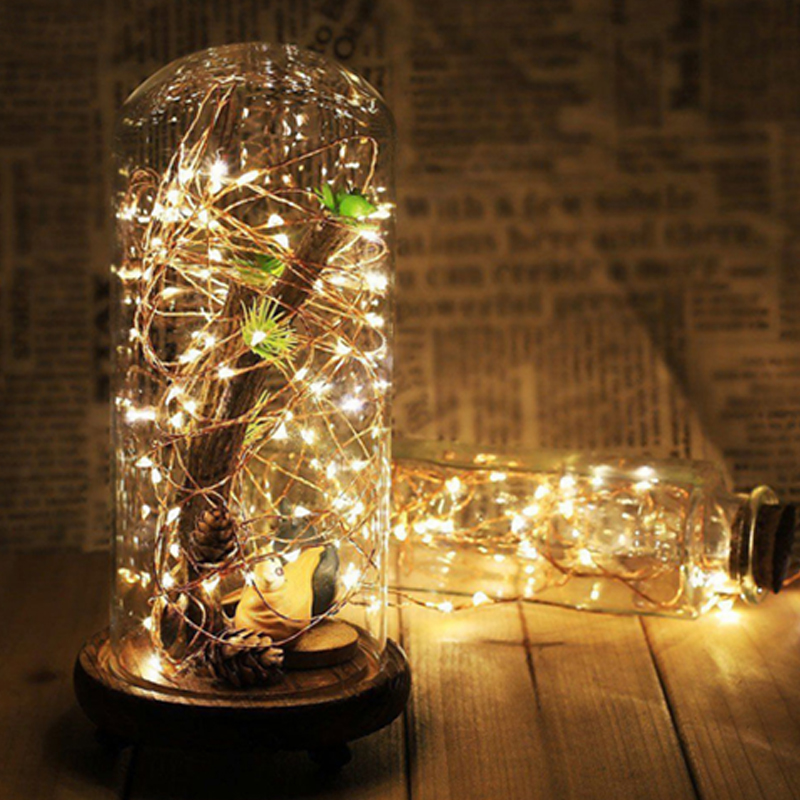 Kaslam 3XAA <font><b>Battery</b></font> 10M 100 LED String Lights for Xmas Garland Party Wedding Decoration Christmas <font><b>Flasher</b></font> Fairy Lights