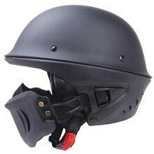 2018 nuovo arrivo Rouge Casco DOT Approvato sicurezza Harley casco stile con Staccabile maschera sfoderabile e lavabile