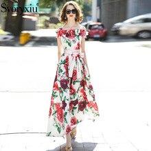 ダイヤモンドサッシ   滑走路ファッション女性のオフショルダードレス花柄ドレープエレガントパーティー自由奔放