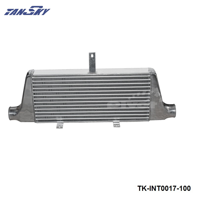 TANSKY - 3 UNIVERSAL INTERCOOLER TYPE: Fin Turbo 600x280x76MM TK-INT0017-100 universal turbo boost intercooler pipe kit 3 76mm 8 pieces alloy piping blue