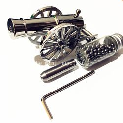 Classic Mini นักรบ Napoleon Cannon สแตนเลสสตีลเดสก์ท็อปรุ่น Naval รุ่นปืนใหญ่เดสก์ท็อปเครื่องประดับสะสม