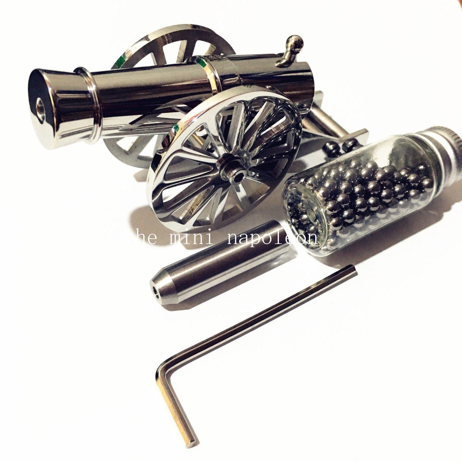 Klasik Mini Savaşçıları Napolyon Topu paslanmaz çelik Masaüstü modeli Deniz Modeli Topçu Masaüstü süsler Koleksiyon