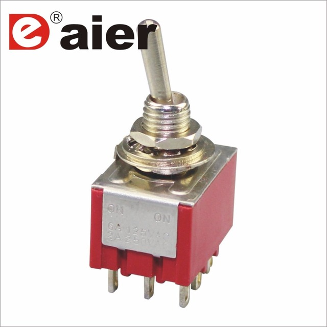 Aliexpress.com : Buy MTS 303 3 Pole Toggle Switch 6MM 3A 250VAC 6A ...