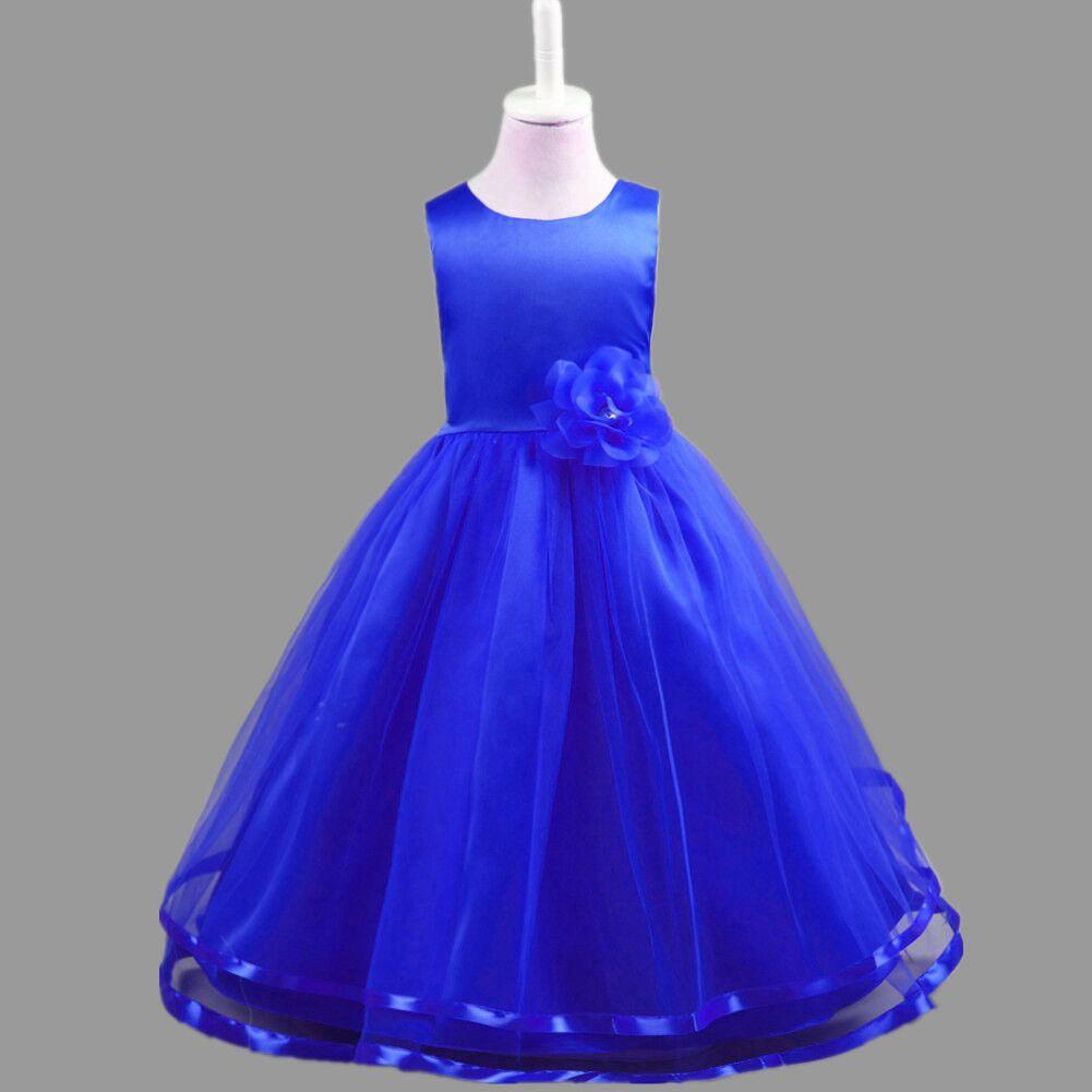 00e820227d31ce0 ... Фото 2 2019 новое платье принцессы для девочек детские праздничные  платья с цветами для девочек Летняя ...