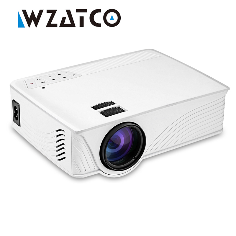 WZATCO CP12 Projector Android Wifi Bluetooth Support 1080P 3D Video LCD Digital HDMI LED HD Home Theater Beamer Proyector цена