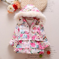 New Autumn Winter Baby Girl Coats Flower Baby Soft Toddler Cartoon  Jacket Children Outerwear Baby Cute Clothing V-0497