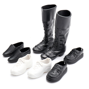 NK 4 Pairs /Set Fashion Boots Doll Shoes Heels Sandals For Ken Dolls Accessories High Quality Baby Toy DZ(China)