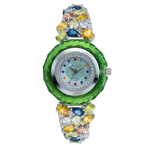 Новый Мелисса уровень ювелирные изделия Кристаллы Часы Для женщин Роскошные платье наручные часы браслет часы Montre Femme f8228