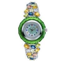 New MELISSA Jewelry Level Crystals Watches Women Luxury Rhinestone Dress Wrist watch Bangle Bracelet Watch Montre Femme F8228