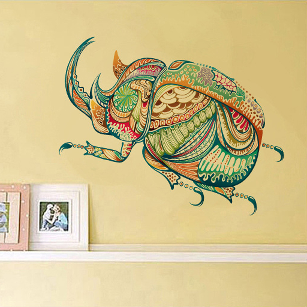 Cartoon Beetle Insect Personalized Wall Sticker Removable Wall ...